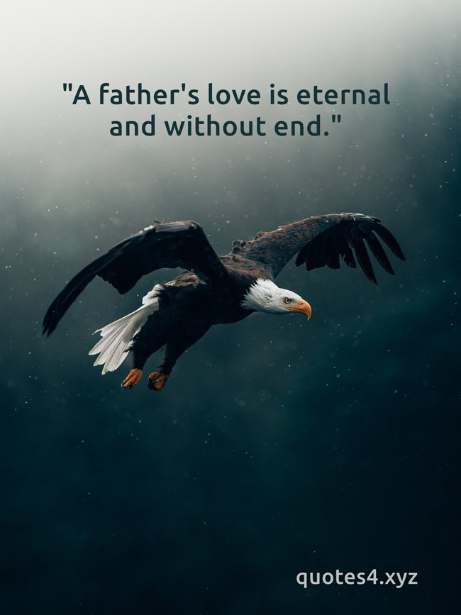 a fathers love is eternal and without end